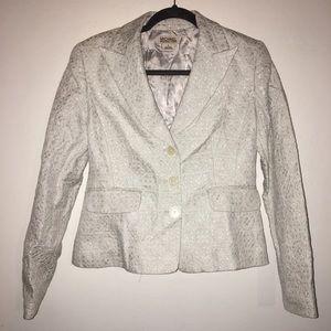 MICHAEL Michael Kors White & Silver Blazer - 8